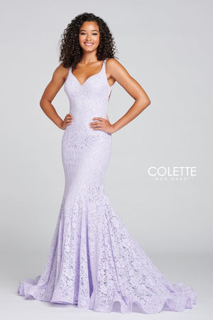 Colette CL12107 prom dress images.  Colette CL12107 is available in these colors: Lilac.