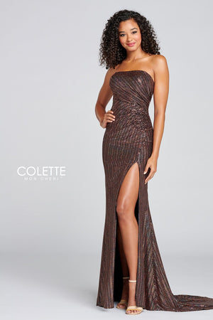 Colette CL12114 prom dress images.  Colette CL12114 is available in these colors: Miley.