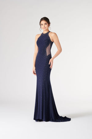 Colette CL19861 prom dress images.  Colette CL19861 is available in these colors: Navy Blue Steel, Burgundy Steel.