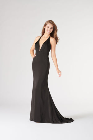Colette CL19862 prom dress images.  Colette CL19862 is available in these colors: Black, Royal Blue.