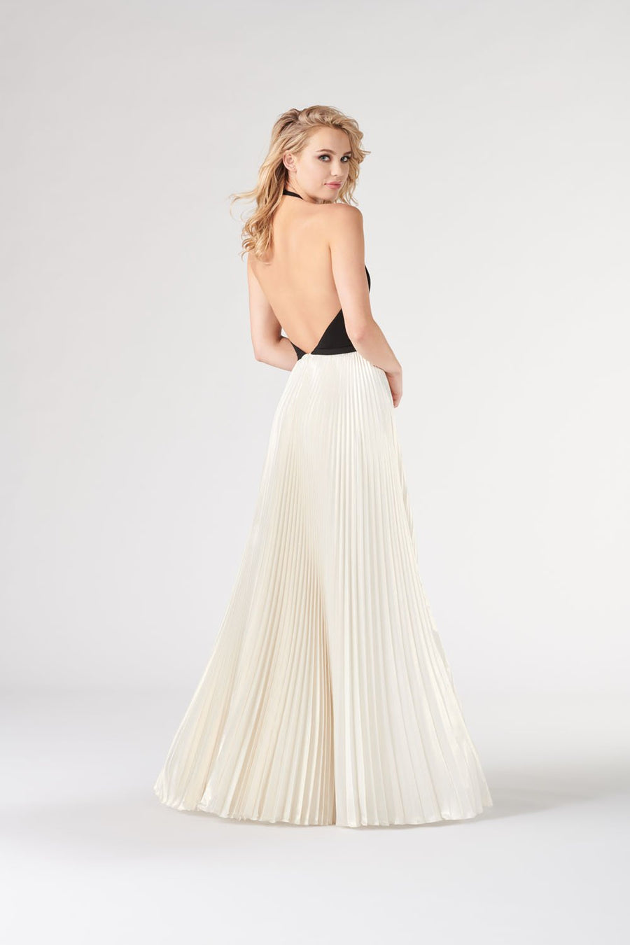 Colette CL19863 prom dress images.  Colette CL19863 is available in these colors: Black Light Ivory.