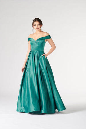 Colette CL19879 prom dress images.  Colette CL19879 is available in these colors: Burgundy, Midnight, Hunter Green.
