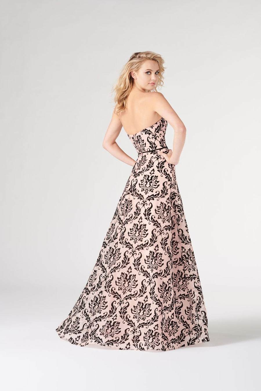 Colette CL19882 prom dress images.  Colette CL19882 is available in these colors: Petal Pink Black.