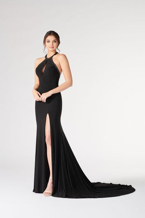 Colette CL19892 prom dress images.  Colette CL19892 is available in these colors: Black.