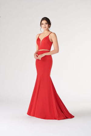 Colette CL19894 prom dress images.  Colette CL19894 is available in these colors: Black, Red, Dark Turquoise.