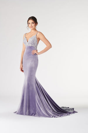 Colette CL19902 prom dress images.  Colette CL19902 is available in these colors: Lilac Silver, Peach Gold, Cranberry, Teal.