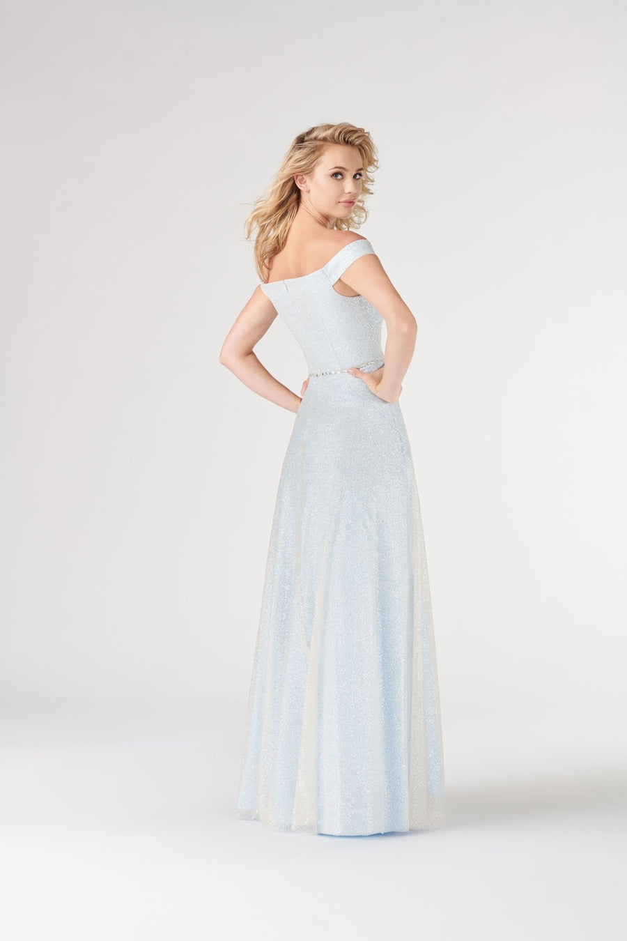 Colette CL19904 prom dress images.  Colette CL19904 is available in these colors: Nude Blue, Nude Lilac, Nude Yellow.