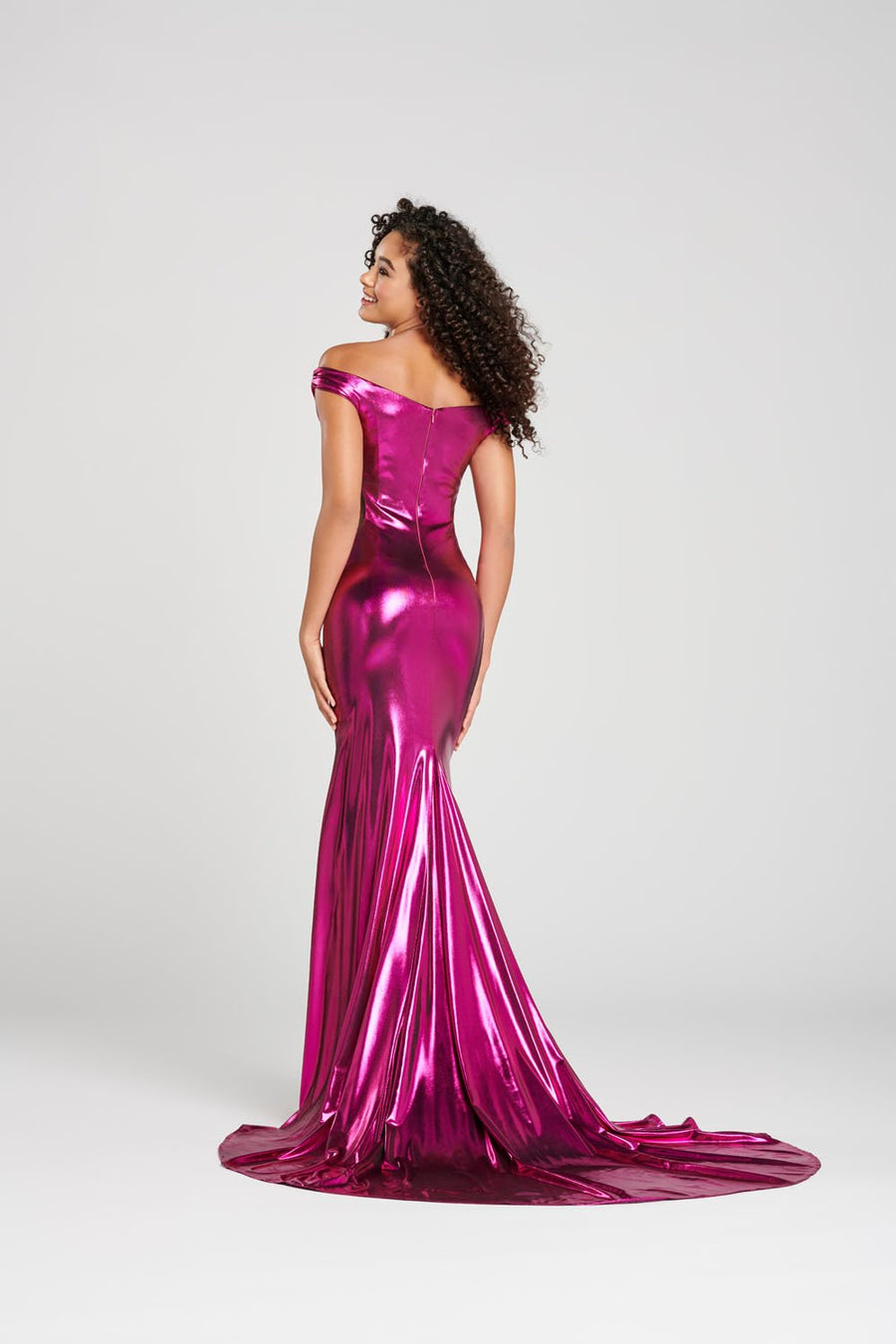 Colette CL12002 prom dress images.  Colette CL12002 is available in these colors: Magenta, Silver, Emerald.