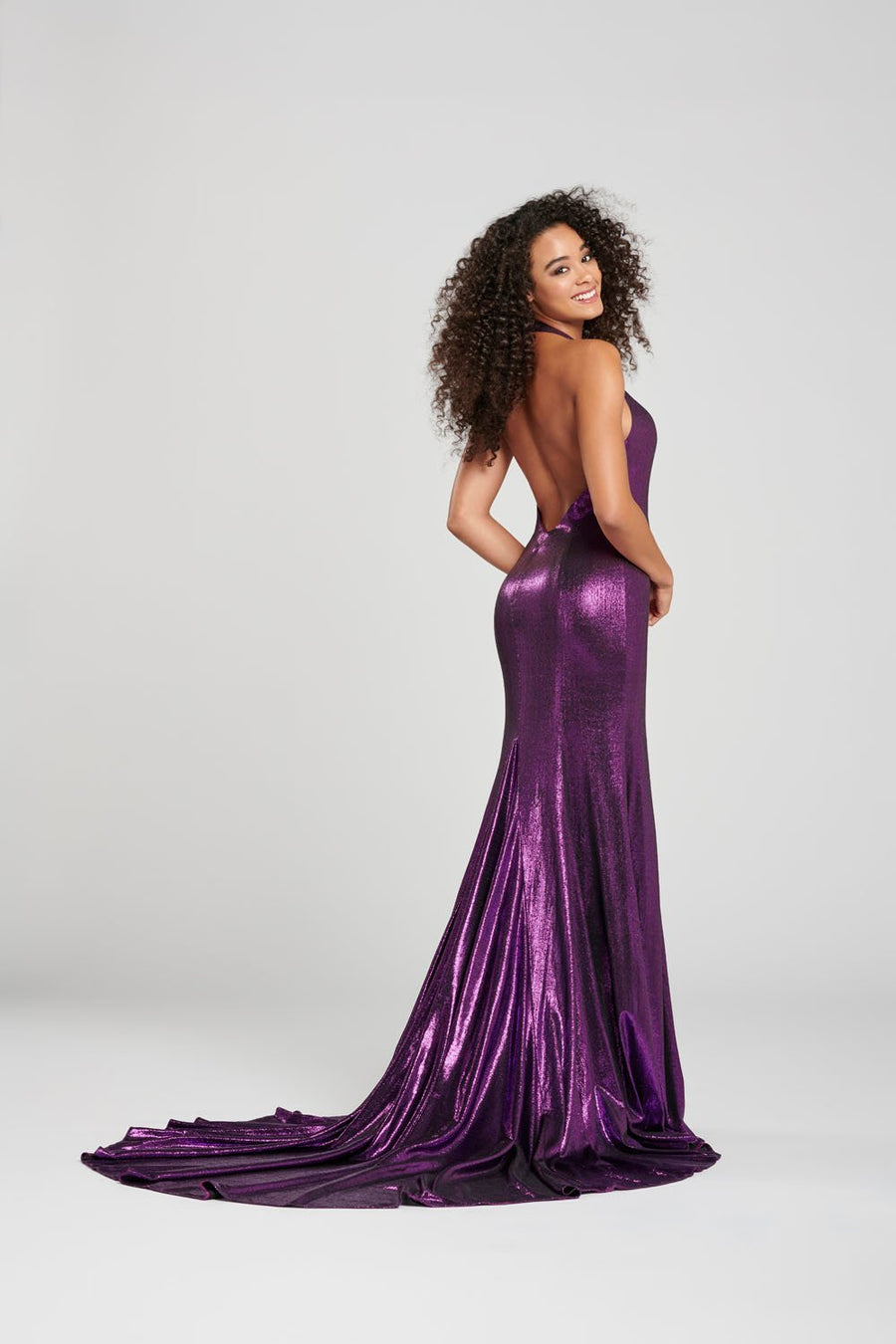 Colette CL12005 prom dress images.  Colette CL12005 is available in these colors: Purple, Turquoise,.