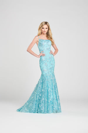 Colette CL12019 prom dress images.  Colette CL12019 is available in these colors: Aqua, Rose.