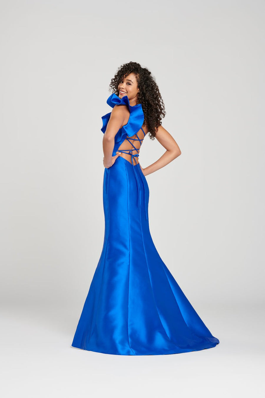 Colette CL12020 prom dress images.  Colette CL12020 is available in these colors: Royal Blue, Black, Dark Red.