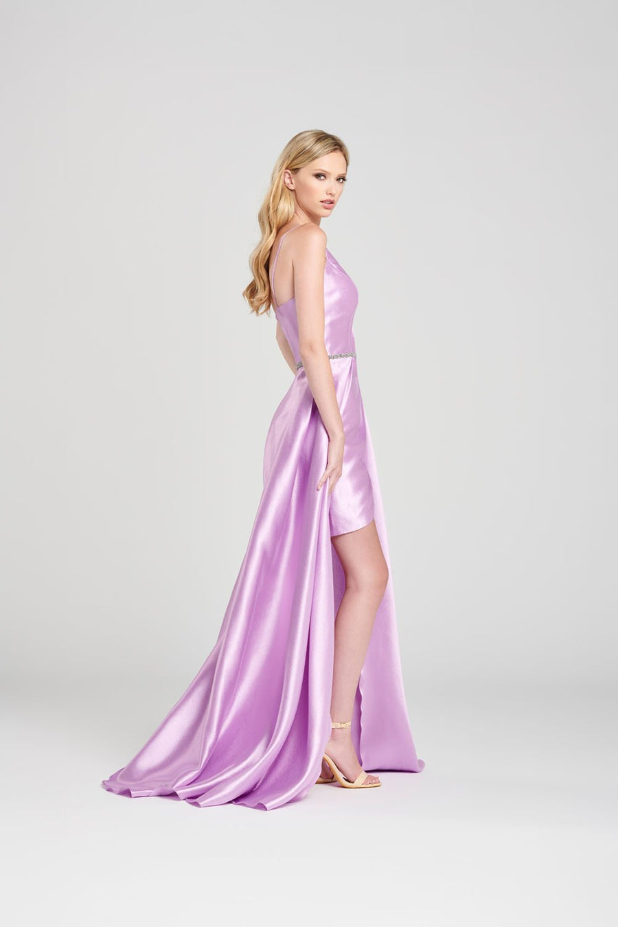 Colette CL12021 prom dress images.  Colette CL12021 is available in these colors: White, Pink, Lilac, Light Blue.