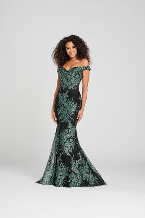 Colette CL12024 prom dress images.  Colette CL12024 is available in these colors: Black Multi.