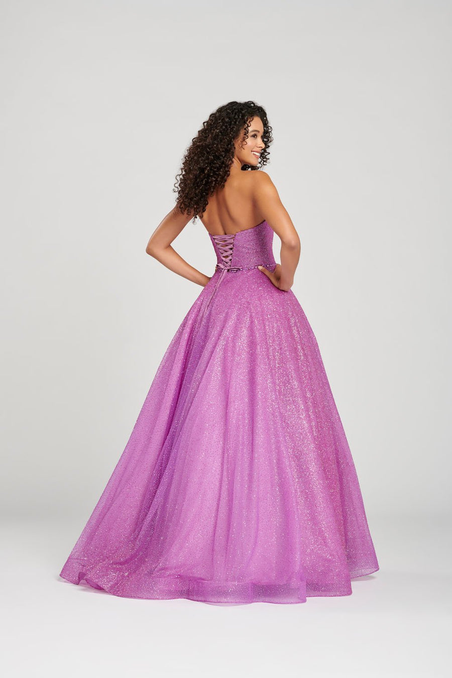 Colette CL12032 prom dress images.  Colette CL12032 is available in these colors: Scarlet, Rose Gold, Orchid.