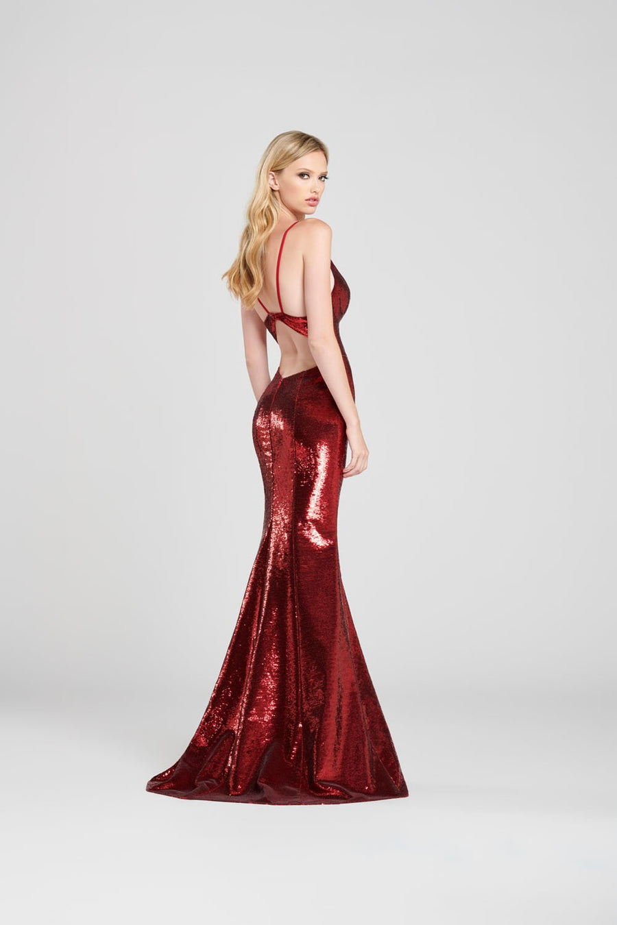 Colette CL12051 prom dress images.  Colette CL12051 is available in these colors: Scarlet, Royal Blue, Black.