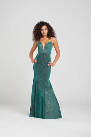 Colette CL12055 prom dress images.  Colette CL12055 is available in these colors: Champagne, Spruce, Scarlet.