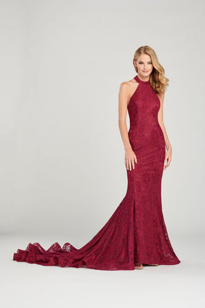Colette CL12058 prom dress images.  Colette CL12058 is available in these colors: Spruce, Cranberry.