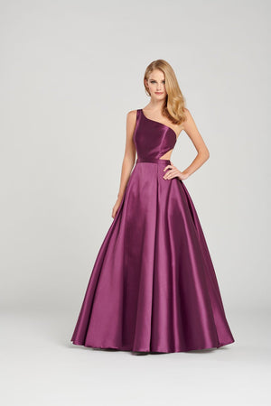 Colette CL12061 prom dress images.  Colette CL12061 is available in these colors: Navy Blue, Burgundy, Plum.