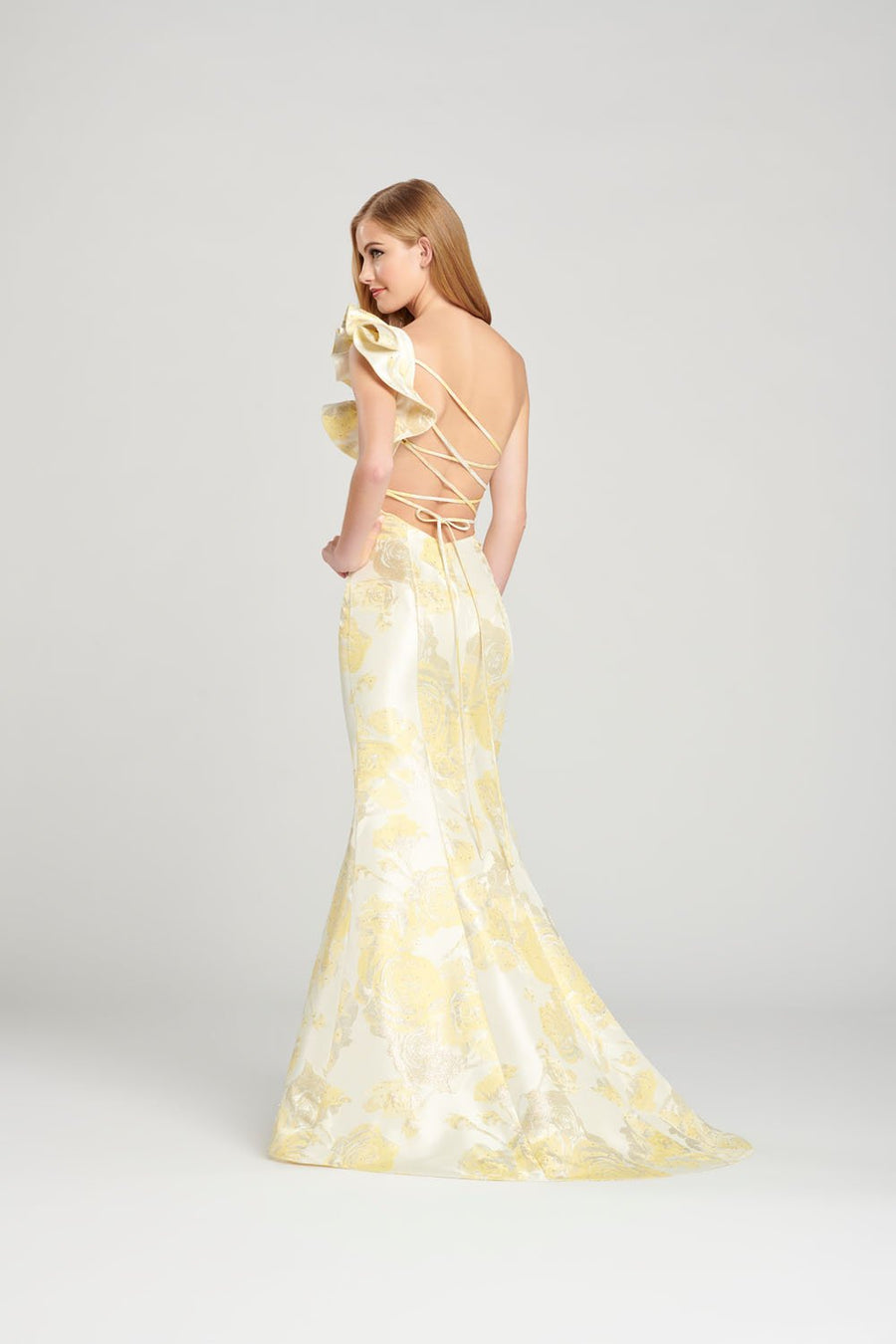 Colette CL12064 prom dress images.  Colette CL12064 is available in these colors: Pink, Yellow, Blue.