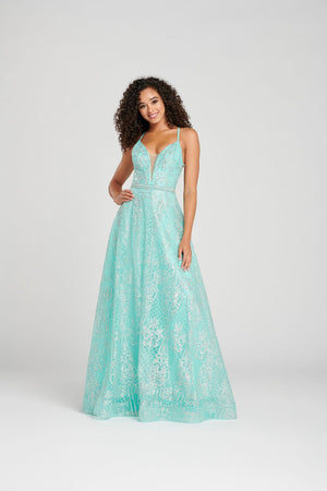 Colette CL12066 prom dress images.  Colette CL12066 is available in these colors: Pink Silver, Aqua Silver.