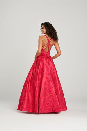 Colette CL12072 prom dress images.  Colette CL12072 is available in these colors: Fuchsia, Sapphire.