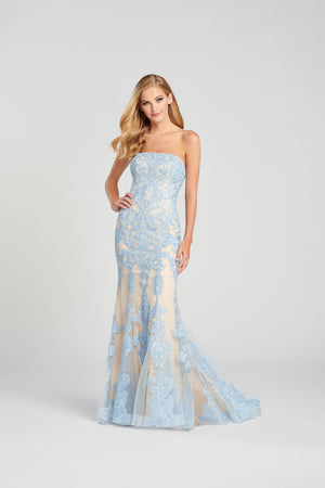 Colette CL12080 prom dress images.  Colette CL12080 is available in these colors: Light Blue Nude, Pink Nude.