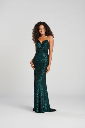 Colette CL12084 prom dress images.  Colette CL12084 is available in these colors: Teal, Black, Wine.