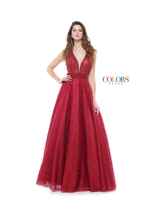 Colors Dress 1742 prom dress images.  Colors 1742 dresses are available in these colors: Emerald, Gold, Wine.
