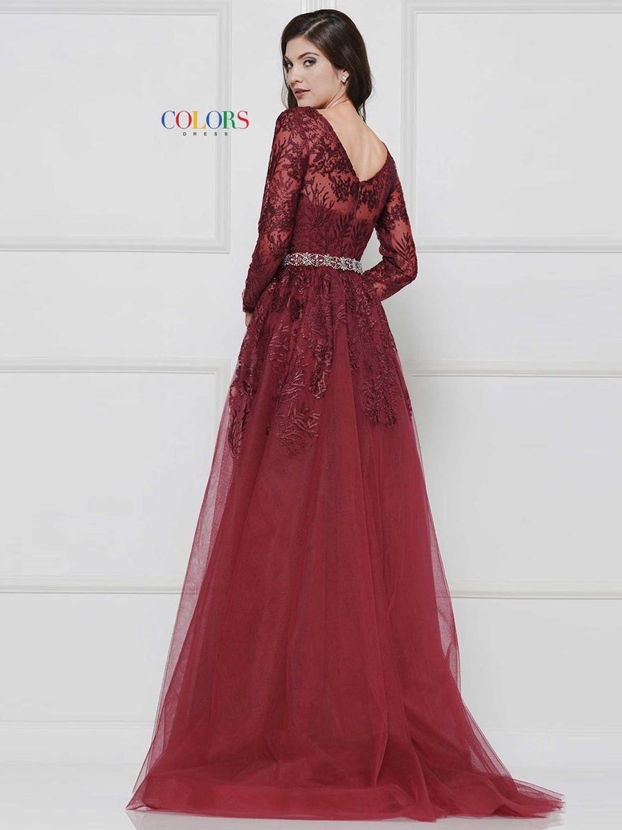Colors Dress 1830 prom dress images.  Colors 1830 dresses are available in these colors: Navy, Wine, Off White.