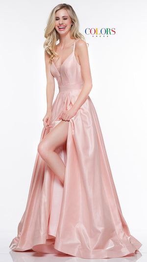 Colors Dress 2062 prom dress images.  Colors 2062 dresses are available in these colors: Blush, Gunmetal, Light Mint.