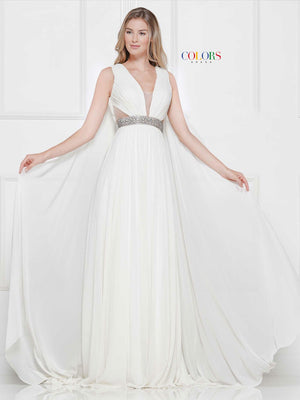 Colors Dress 2083 prom dress images.  Colors 2083 dresses are available in these colors: Red, Royal, Off White, Yellow.