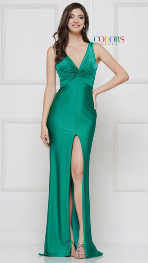 Colors Dress 2138 prom dress images.  Colors 2138 dresses are available in these colors: Emerald, Lemon, Navy, Orchid, Poppy, Red, Royal, Seafoam.
