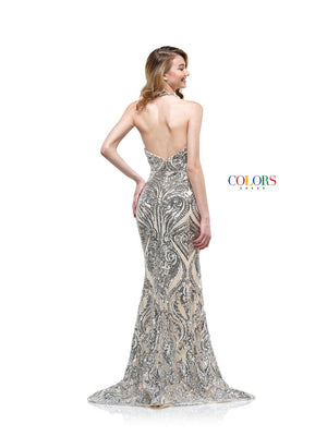 Colors Dress 2141 prom dress images.  Colors 2141 dresses are available in these colors: Multi, Silver.