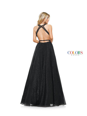 Colors Dress 2142 prom dress images.  Colors 2142 dresses are available in these colors: Black, Red, Royal.