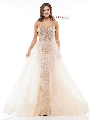 Colors Dress 2145 prom dress images.  Colors 2145 dresses are available in these colors: Gold, Light Mint, Baby Pink.