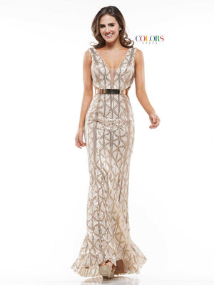 Colors Dress 2146 prom dress images.  Colors 2146 dresses are available in these colors: Gold.