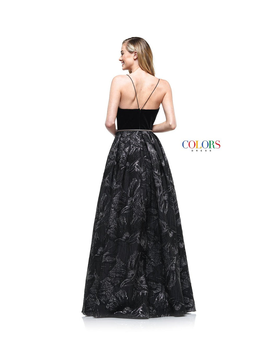 Colors Dress 2147 prom dress images.  Colors 2147 dresses are available in these colors: Black Gold, Black Deep Green, Black Silver.