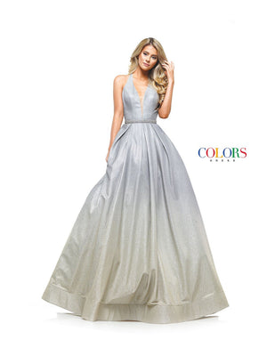 Colors Dress 2155 prom dress images.  Colors 2155 dresses are available in these colors: Blue Pink, Gold Silver.