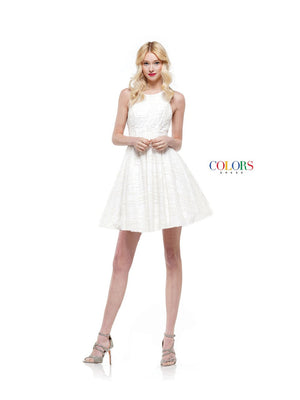 Colors Dress 2156 prom dress images.  Colors 2156 dresses are available in these colors: Black, White.