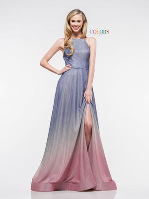 Colors Dress 2165 prom dress images.  Colors 2165 dresses are available in these colors: Blue Pink, Silver Blush, Silver Purple.