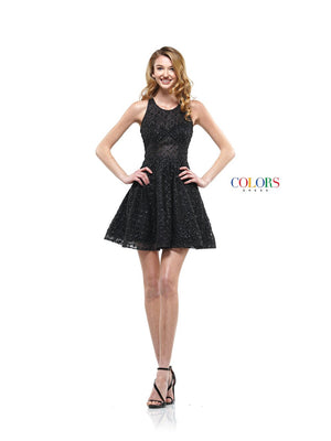 Colors Dress 2167 prom dress images.  Colors 2167 dresses are available in these colors: Black, Gold, Silver.