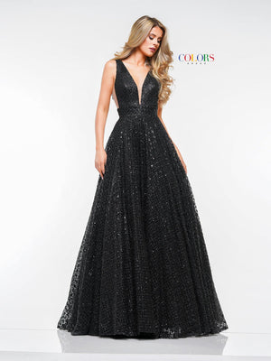 Colors Dress 2170 prom dress images.  Colors 2170 dresses are available in these colors: Black, Rose Gold.
