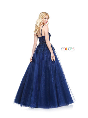 Colors Dress 2171 prom dress images.  Colors 2171 dresses are available in these colors: Gold, Navy.