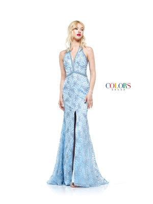 Colors Dress 2176 prom dress images.  Colors 2176 dresses are available in these colors: Baby Blue, Gold, Silver.
