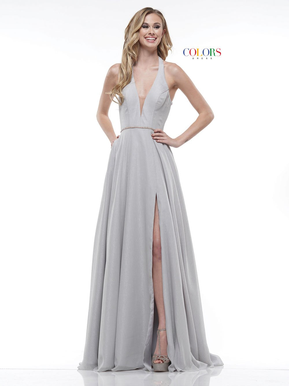 Colors Dress 2178 prom dress images.  Colors 2178 dresses are available in these colors: Blush, Grey, Red, Royal.