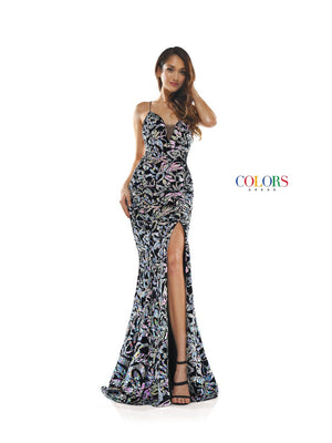 Colors Dress 2277 prom dress images.  Colors 2277 dresses are available in these colors: Iridescent, Hot Pink, Turquoise.