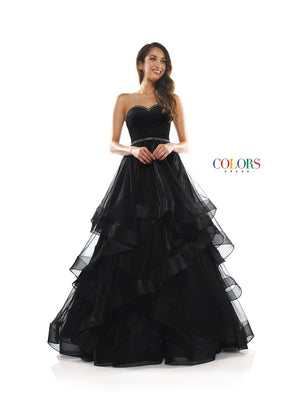 Colors Dress 2279 prom dress images.  Colors 2279 dresses are available in these colors: Black, Emerald, Light Mauve, Off White.