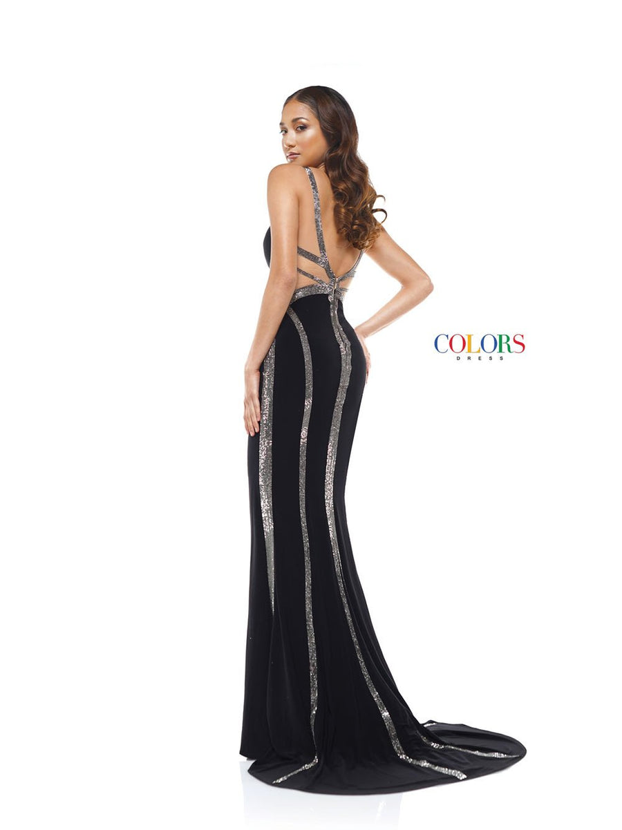 Colors Dress 2280 prom dress images.  Colors 2280 dresses are available in these colors: Black, Hot Pink, Off White.