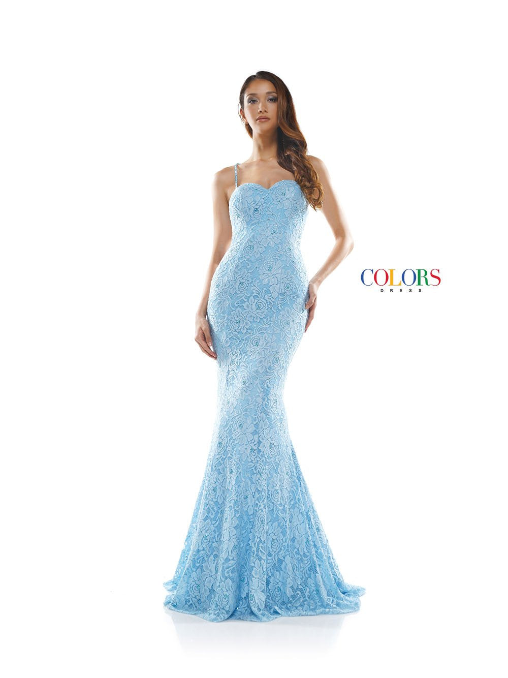 Colors Dress 2281 prom dress images.  Colors 2281 dresses are available in these colors: Blue, Lavender, Hot Pink, Red, Off White.