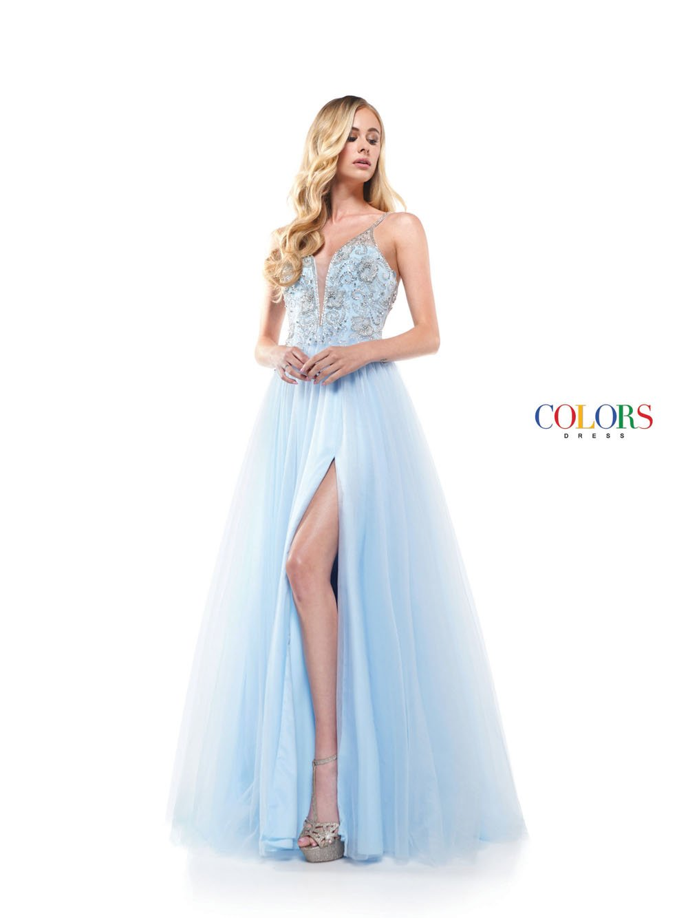Colors Dress 2283 prom dress images.  Colors 2283 dresses are available in these colors: Light Blue, Canary, Emerald, Dusty Lilac.
